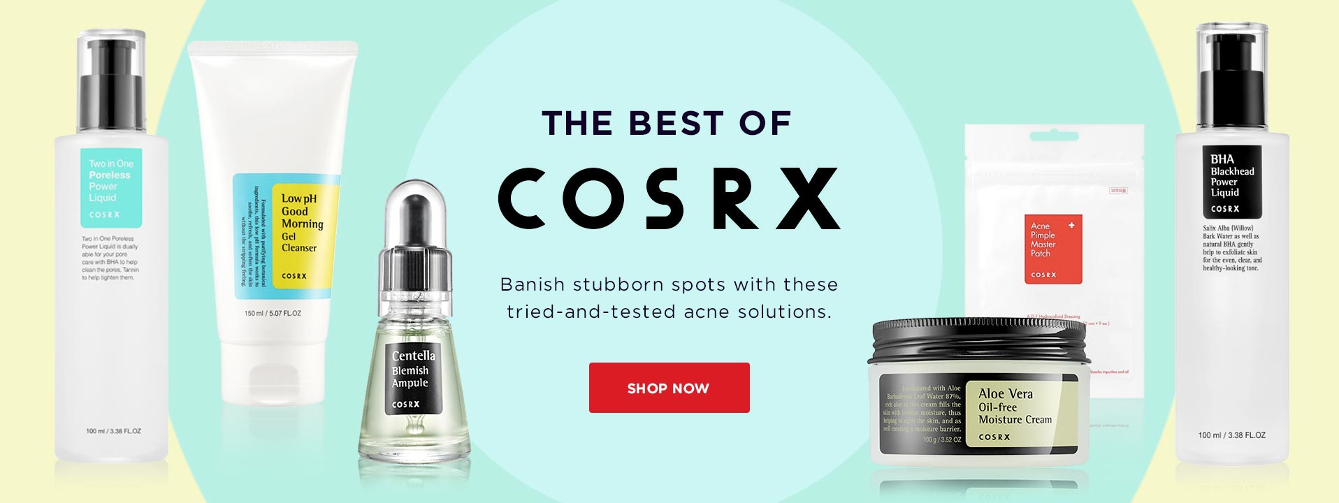 The Best of COSRX. Banish stubborn spots with these tried-and-tested acne solutions.